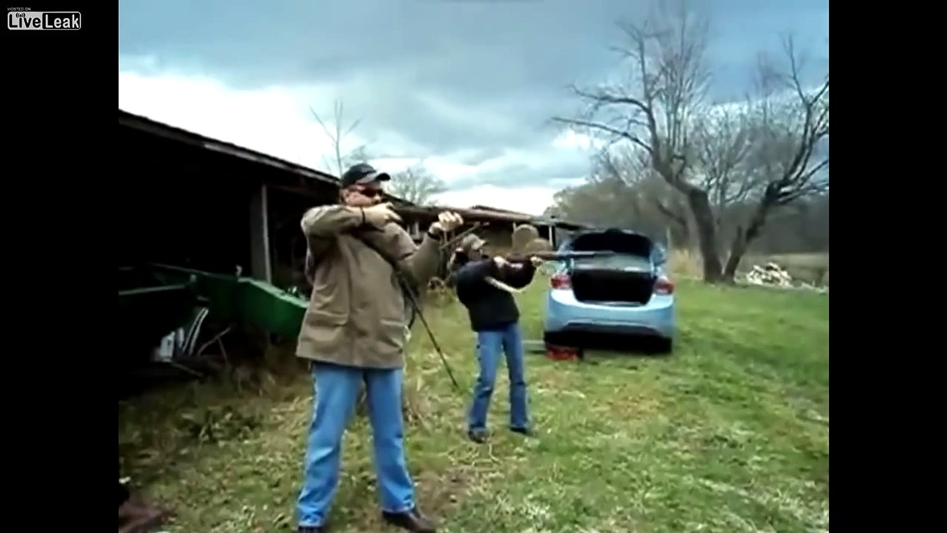 LiveLeak - Rifle Explodes In Girls Hands While Shooting