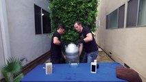 L'iPhone 6 dans de l'Azote Liquide