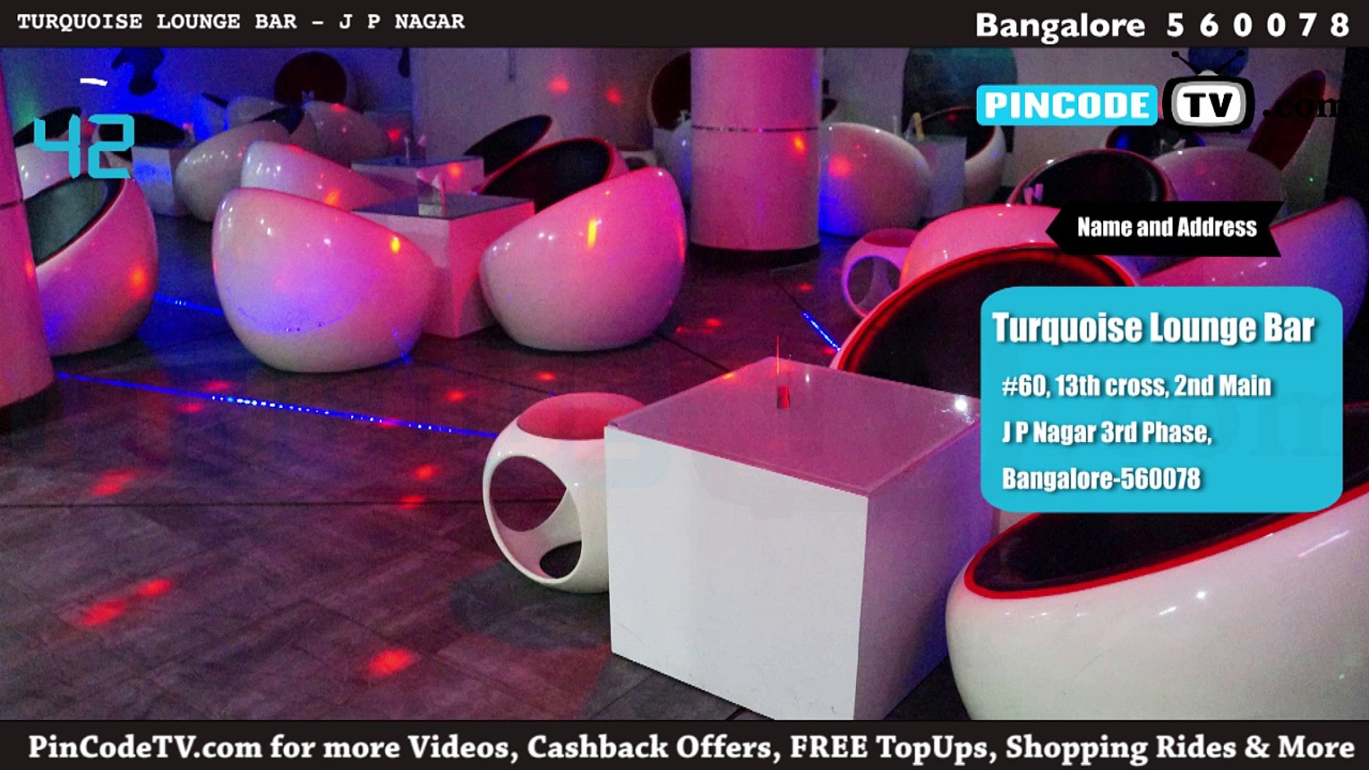 PinCodeTV.com - Turquoise Lounge Bar [60 Seconds] Lounge bar in J P Nagar - Bangalore - Pin Code 560