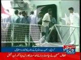 PNS Aslat with 146 Pakistanis from Yemen arrives in Karachi
