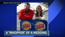 Burger, King getting married and Burger King picking up the tab
