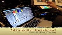 Ableton Live Push & the Roland Integra 7
