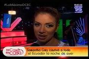 De Casa En Casa - Entrevista a Samantha luego de su baile en SEM VIP