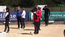 Mène 2, Finale du Super 16 Féminin, Sport Boules, Bourg-Saint-Andéol 2015