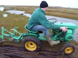 Bolens Ride a Matic 7hp tractor ploughing