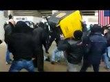Émeute en Allemagne : Un hooligan ivre vise la police, mais frappe son ami par erreur