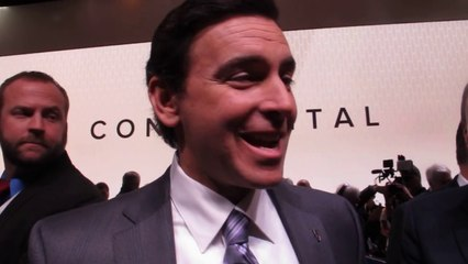 Ford CEO Mark Fields Reporter Scrum after Lincoln Continental Concept Reveal NYC Auto Show