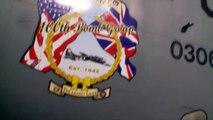 KC-135 Stratotanker Boom Operator Air Refuels Dassault Rafale Fighter Jets