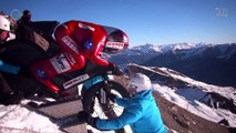 Record du monde de Vitesse en VTT de descente sur neige : Eric Barone - 223,30 km/h - Vars Speed Challenge 2015