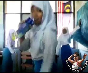 Malaysian School Girls Dance in Classroom