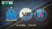 Dimanche 12 avril à 15h00 - Olympique de Marseille - Paris St Germain - Coupe Gambardella 1/4 de finale