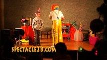 clown magicien  ANGERS CHOLET SAUMUR AVRILLE LES PONTS  DE CE  TRELAZEST BARTHELEMY D ANJOU DOUE LA FONTAINE LONGUE  JUM