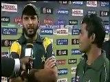 Umar Akmal speaking urdu; Umar Akmal is Man of the Match on Pakistan vs West Indies-ICC CT 09
