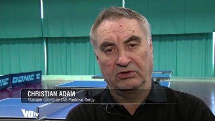 Christian Adam à propos du titre de champion de France de l'AS Pontoise-Cergy tennis de table