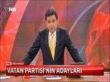 Vatan Partisi'nin adayları Doğu Perinçek İstanbul 1. Bölgeden aday oluyor