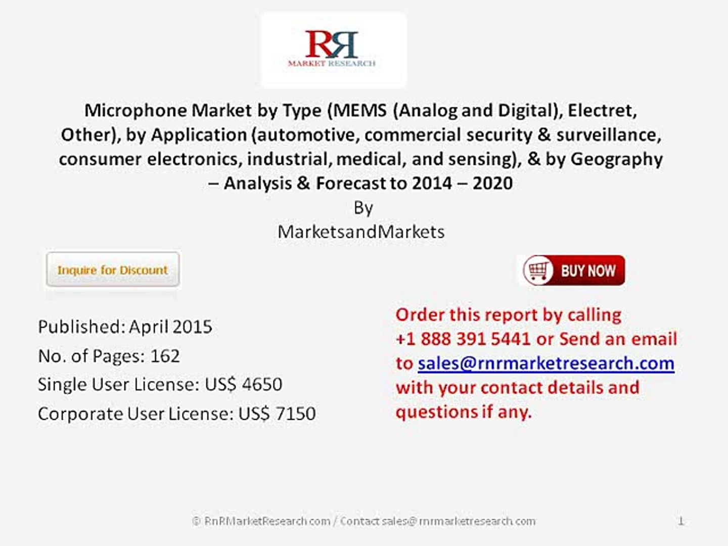 Worldwide Microphone Market Trends 2020 by Market Size, Type and Application