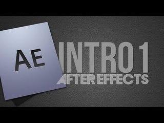 Como criar uma Intro/Vinheta no After Effects #1