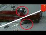 Chinesischer Junge wird von Auto überrollt und überlebt