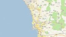 Widest Freeway - Interstate 5/805 Merge and spilt. Sorrento Valley, San Diego.