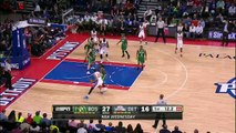 Isaiah Thomas Buzzer Beater - Celtics vs Pistons - April 8, 2015 - NBA Season 2014-15