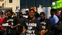 Calls for calm as South Carolina protesters voice their anger over shooting