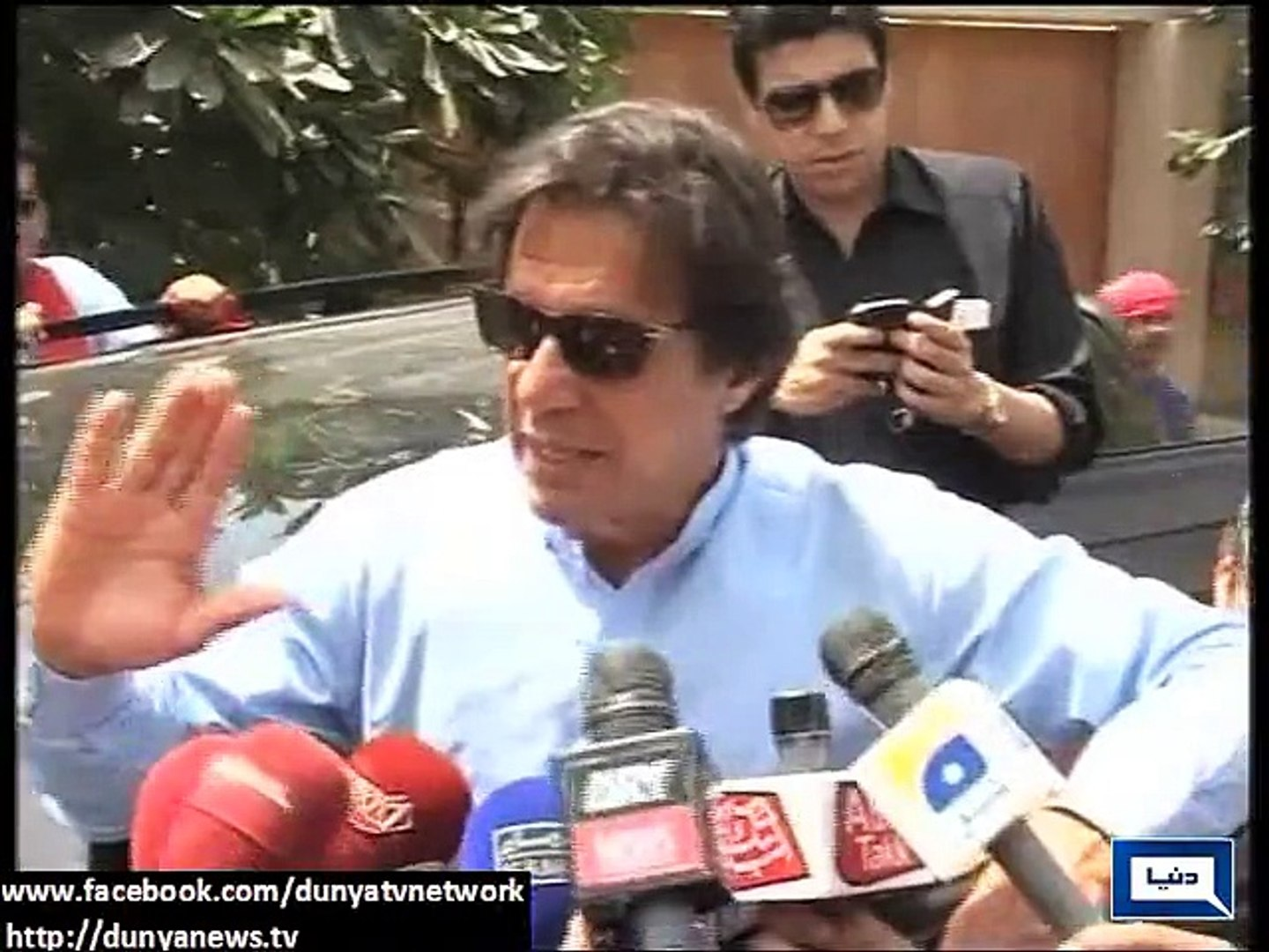 Dunya News-The purpose of my visit to Karachi is to end the the atmosphere of fear: Imran khan