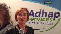 Annie Debeuf du réseau Adhap services en direct de Top Franchise Méditerranée