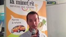 Interview d'Antoine Tauvel, de la franchise La Minut'Rit, sur le salon Top Franchise Méditerranée 2013