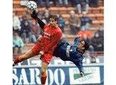 Djorkaeff incredible bicycle goal | Inter Milan vs AS Roma