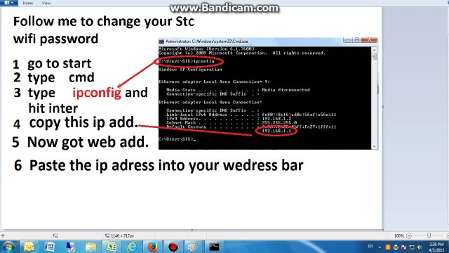 How to change wifi password -STC