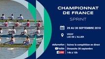 Championnat de France Sprint, Vichy,  Dimanche 30 septembre 2018