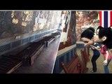 Des touristes Chinois tentent d'endommager des peintures murales décrivant l'histoire de Ramayana