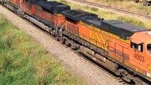 BNSF Detour! BNSF 4003, 8531, & 5832 Lead Empty Coal Train Past Cloverdale, BC - 8/24/14