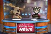 Talking Tom & Talking Ben spin, fall, and fight LOL Talking News moments