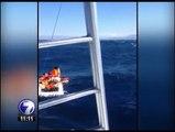 Videos captados con teléfonos celulares muestran los momentos vividos en el naufragio del catamarán