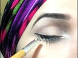 How to apply winged liner + easy and Glam eye makeup tutorial