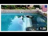 FÊTE AU BORD DE LA PISCINE: Une ivrogne conduit tout droit dans la piscine d'un fêtard
