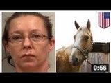 Une ivrogne vole un cheval pour aller voler de la bière
