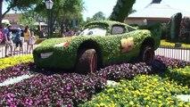 Epcot Flower & Garden Disney Pixar Cars 2 Lightning Mcqueen Topiary 4/6/11