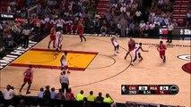 Taj Gibson Misses Easy Dunk - Bulls vs Heat - April 9, 2015 - NBA Season 2014-15
