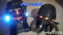 Craker Moddings - Master Chief and Helghast Helmet with Light (Led Mod)