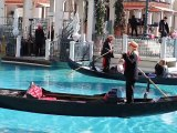 Gondola ride outside the Venetian casino in Las Vegas.