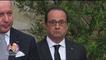 La drôle de tête de François Hollande pendant un discours