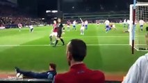 Aston Villa ball boy nutmegs QPR keeper Rob Green