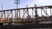 CSX Train Amtrak Light Engine and LIRR train meet.