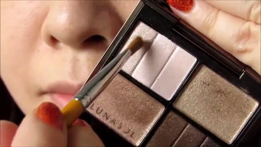 簡單自然的啡色眼妝 Easy and Natural Brown eyes makeup