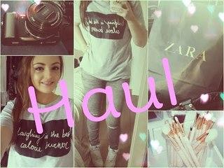 ✿ Haul ✿ Zoeva, Zara & new caméra !