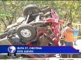 Accidente en la ruta 27 deja dos fallecidos y tres personas en estado crítico