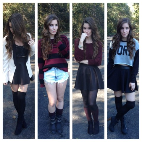 How To | Thigh High & Knee Socks for Fall