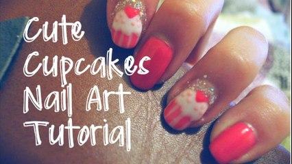 Cute Cupcakes Nail Art Tutorial ✿ SpaceForHer   Christy